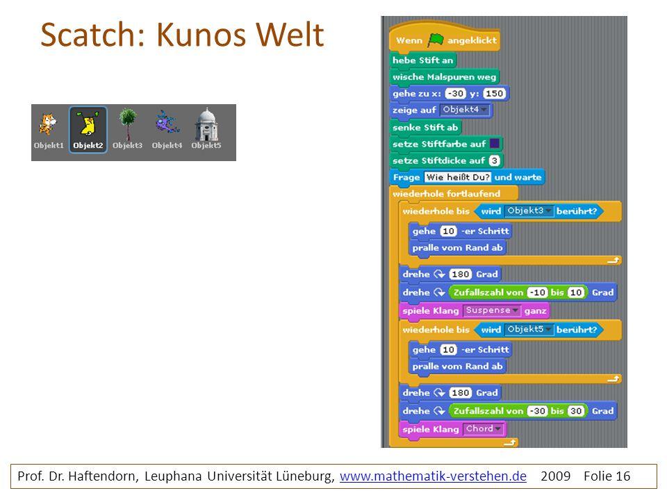 Scatch: Kunos Welt kunoswelt. Prof. Dr.