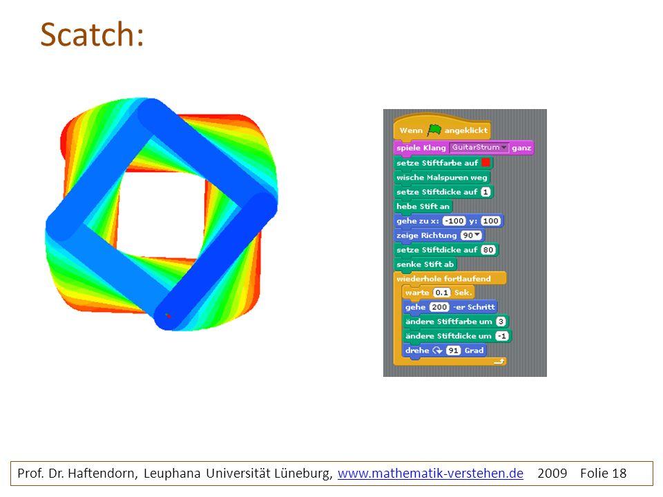 Scatch: Rosette1bunt mit prg. Prof. Dr.