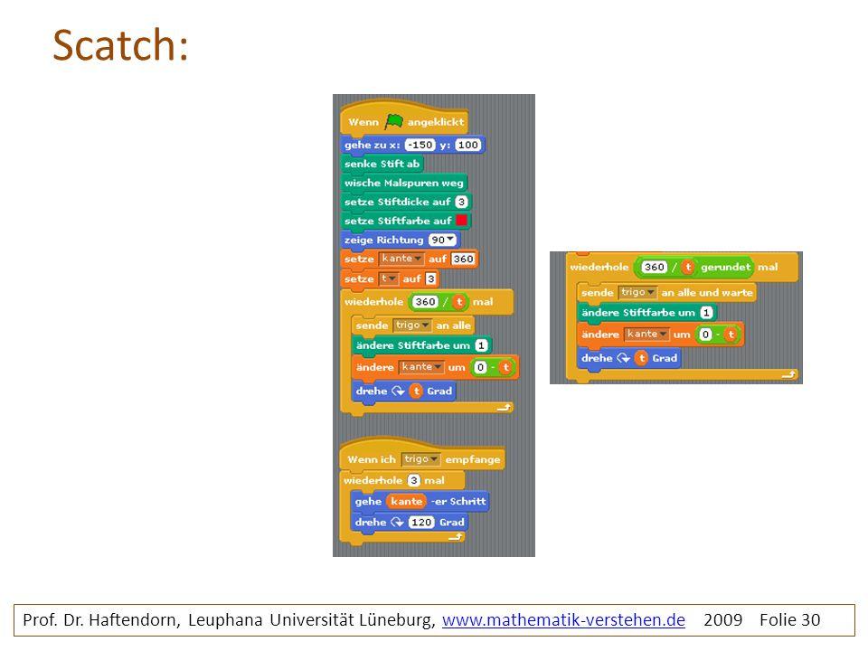 Scatch: Rosette4 prg 1 und prg2. Prof. Dr.
