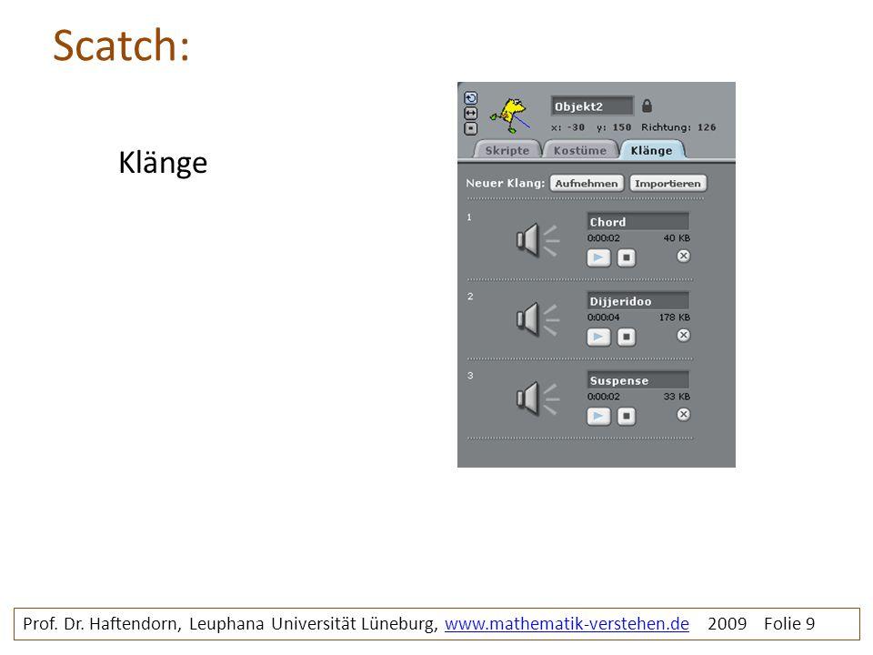 Scatch: Klänge. Prof. Dr.