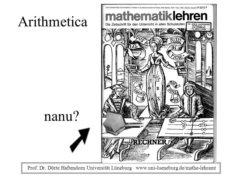 Arithmetica nanu. Prof. Dr.