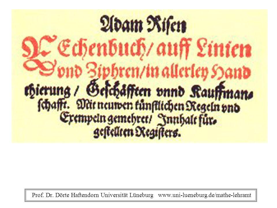 Adam Ries Rechenbuch Prof. Dr.