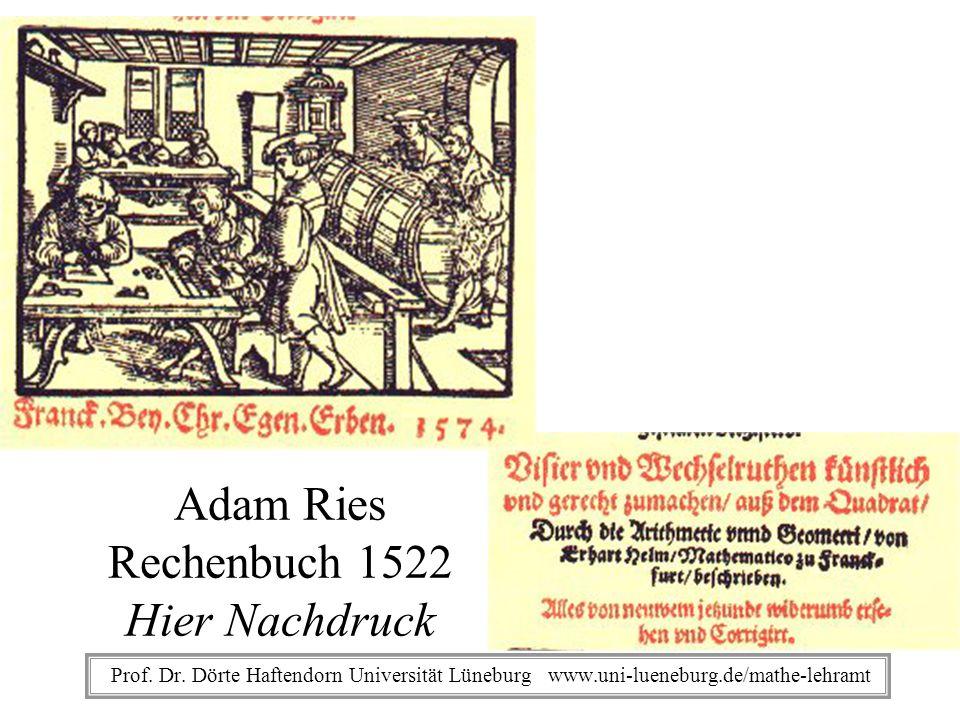 Adam Ries Rechenbuch 1522 Hier Nachdruck