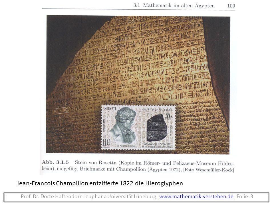 Jean-Francois Champillon entzifferte 1822 die Hieroglyphen