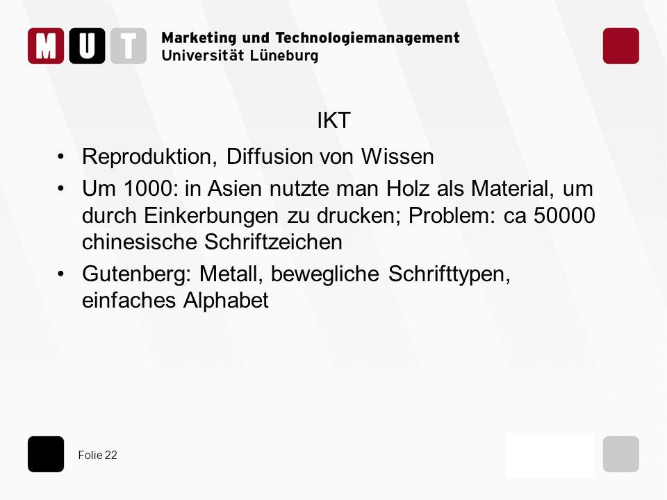 IKT Reproduktion, Diffusion von Wissen.