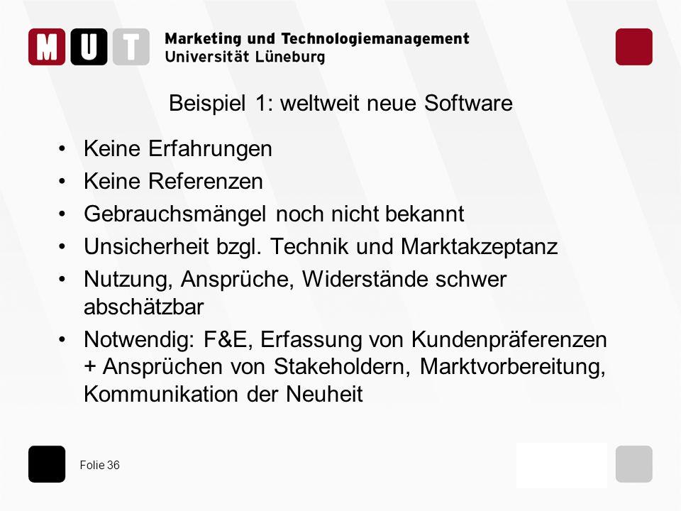 Beispiel 1: weltweit neue Software