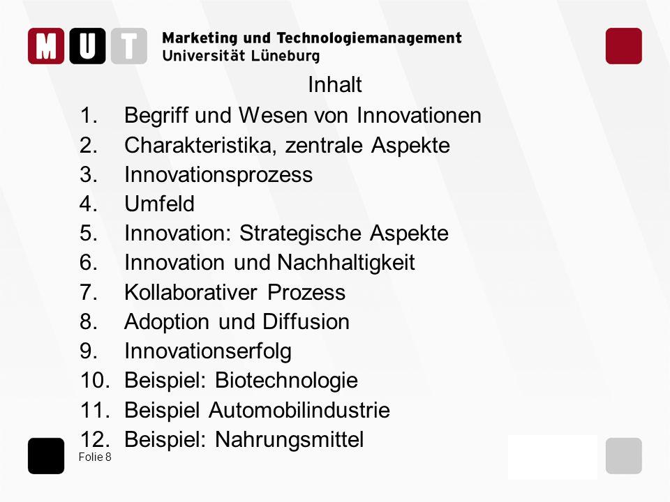 Begriff und Wesen von Innovationen Charakteristika, zentrale Aspekte