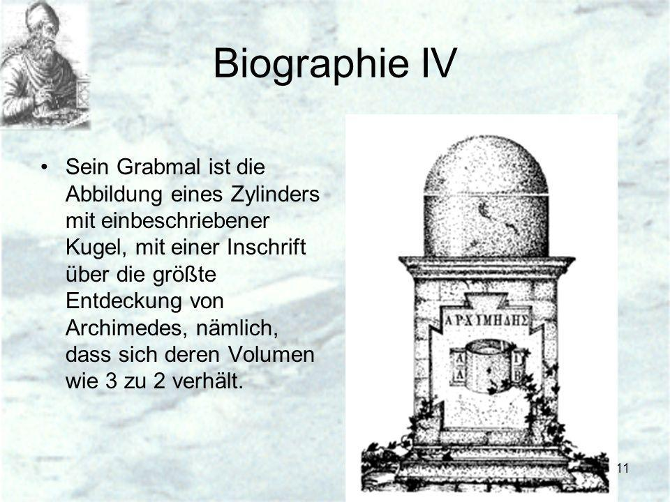 Biographie IV