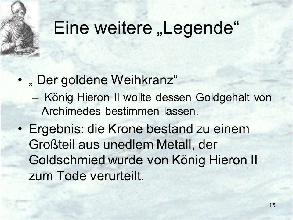 """Eine weitere """"Legende"""