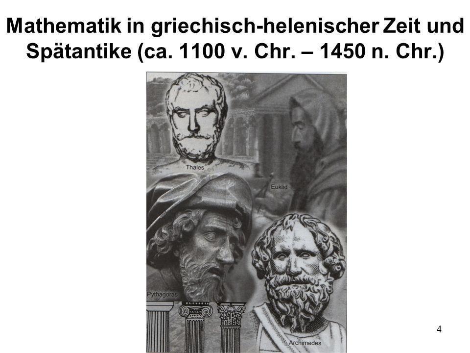 Mathematik in griechisch-helenischer Zeit und Spätantike (ca. 1100 v
