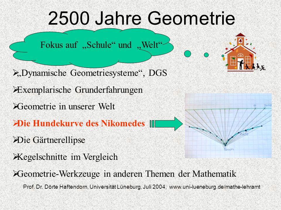 """2500 Jahre Geometrie Fokus auf """"Schule und """"Welt"""