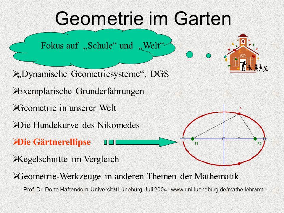 """Geometrie im Garten Fokus auf """"Schule und """"Welt"""