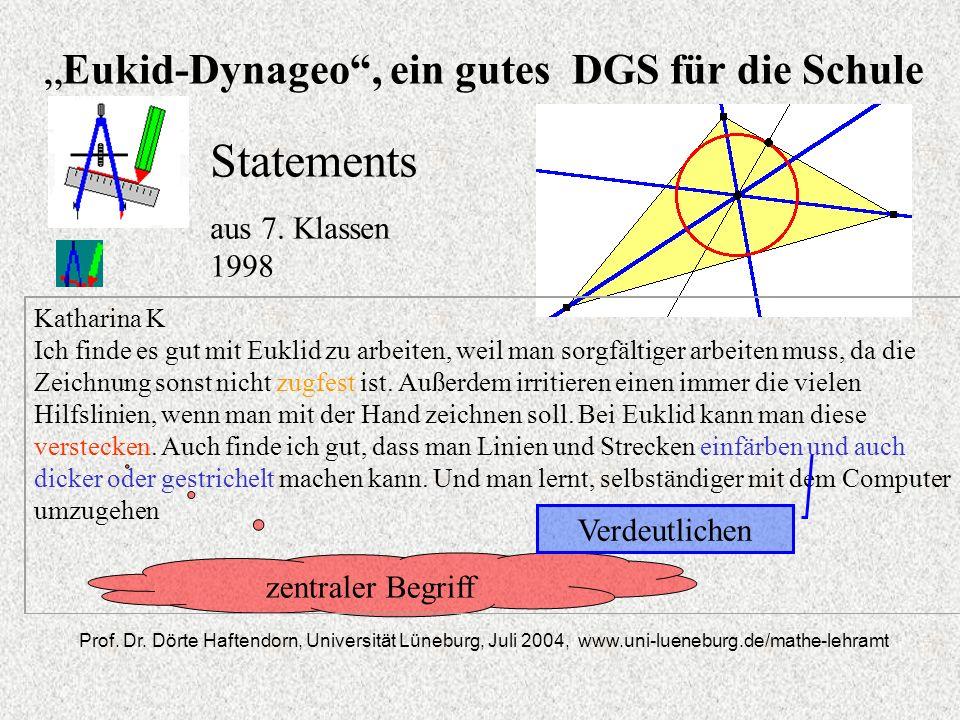"""""""Eukid-Dynageo , ein gutes DGS für die Schule"""