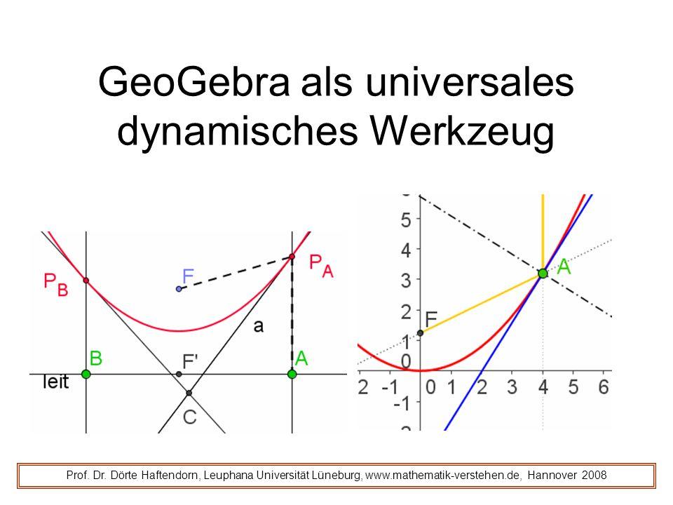 GeoGebra als universales dynamisches Werkzeug