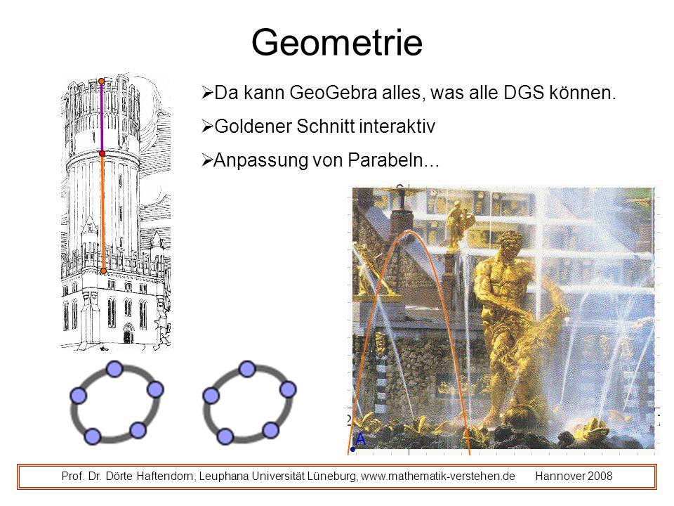 Geometrie Da kann GeoGebra alles, was alle DGS können.
