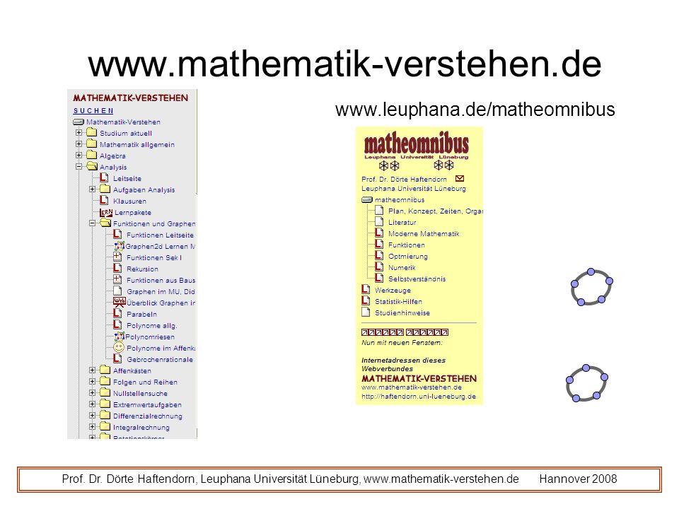 www.mathematik-verstehen.de www.leuphana.de/matheomnibus
