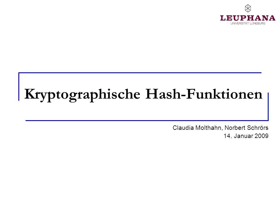 Kryptographische Hash-Funktionen
