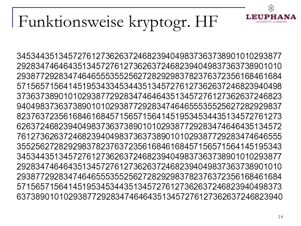 Funktionsweise kryptogr. HF