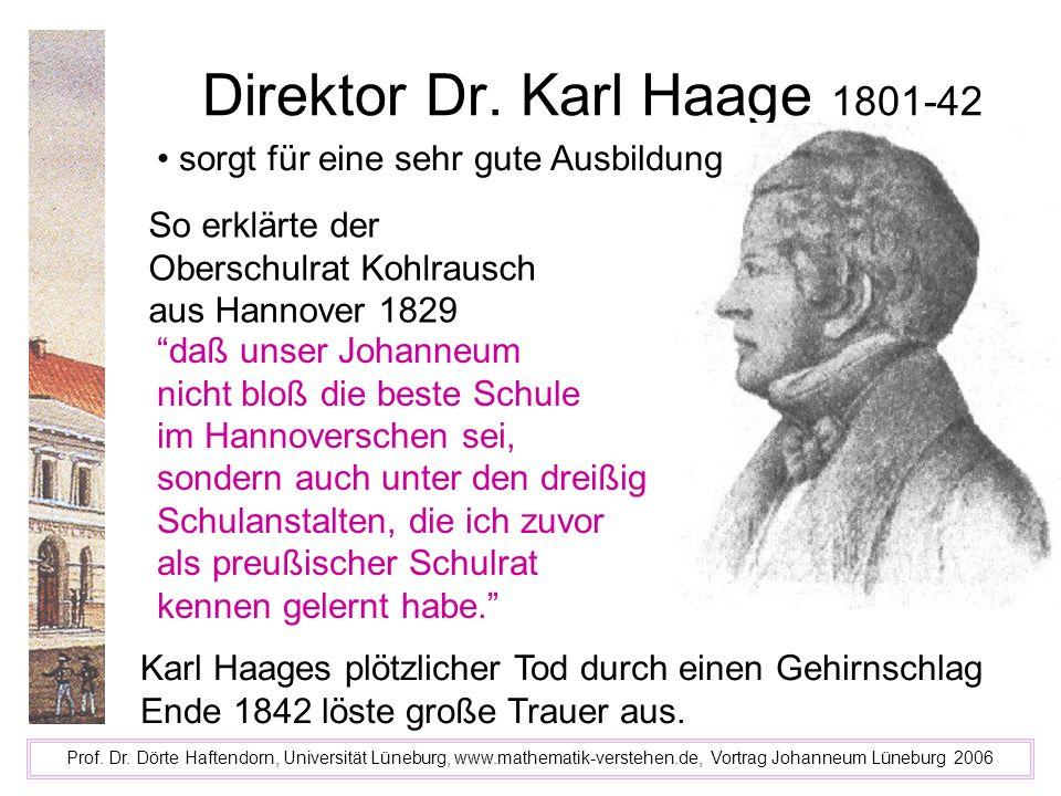 Direktor Dr. Karl Haage 1801-42