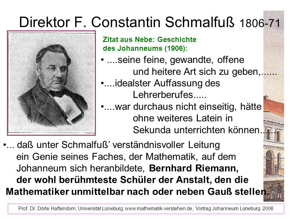 Direktor F. Constantin Schmalfuß 1806-71