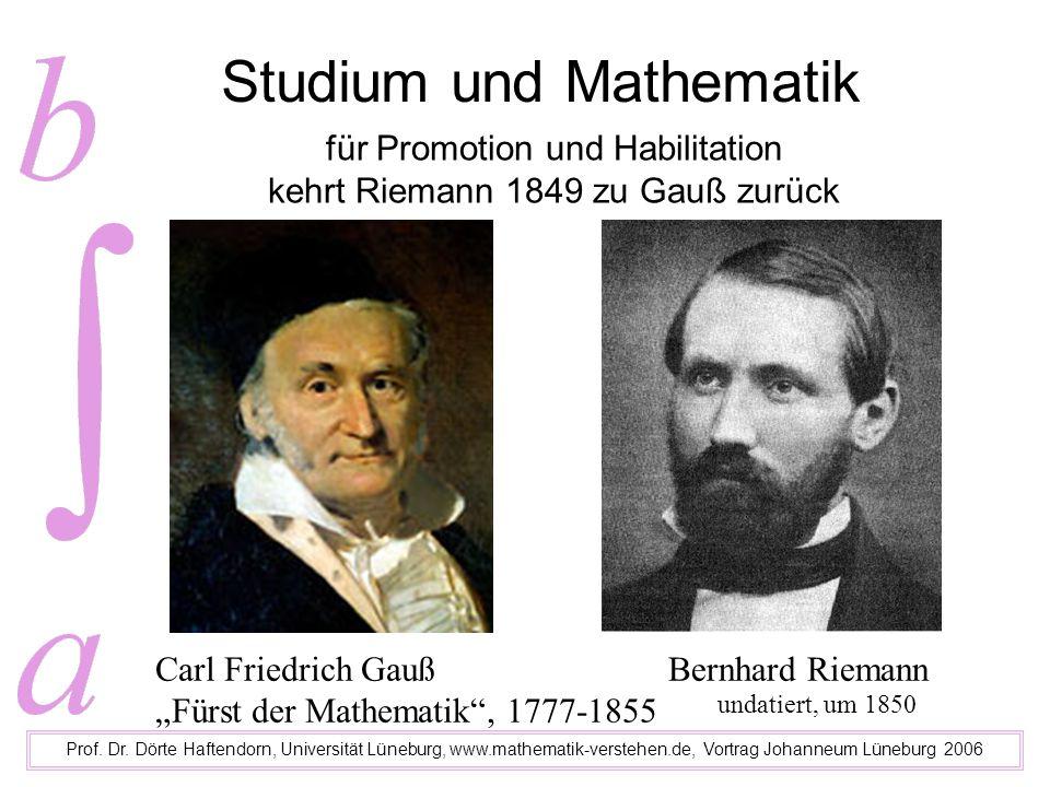 Studium und Mathematik