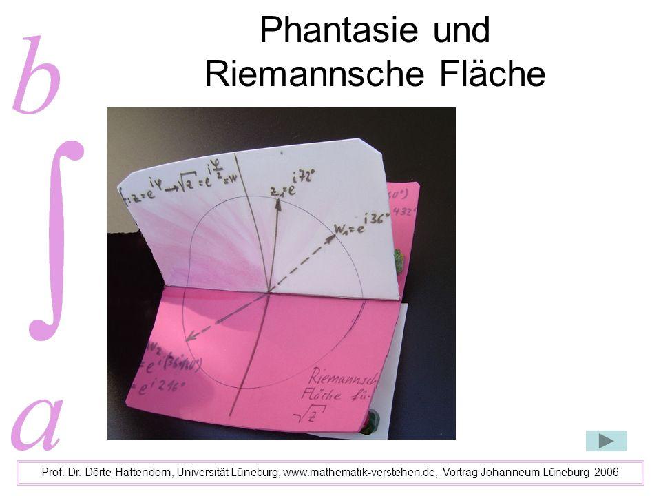 Phantasie und Riemannsche Fläche