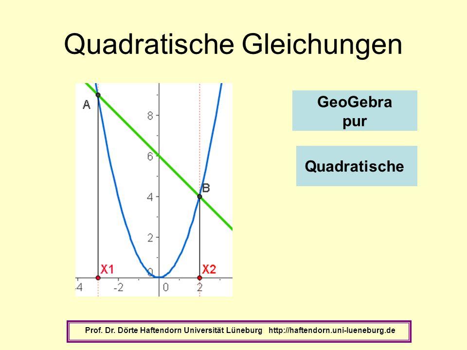 Quadratische Gleichungen