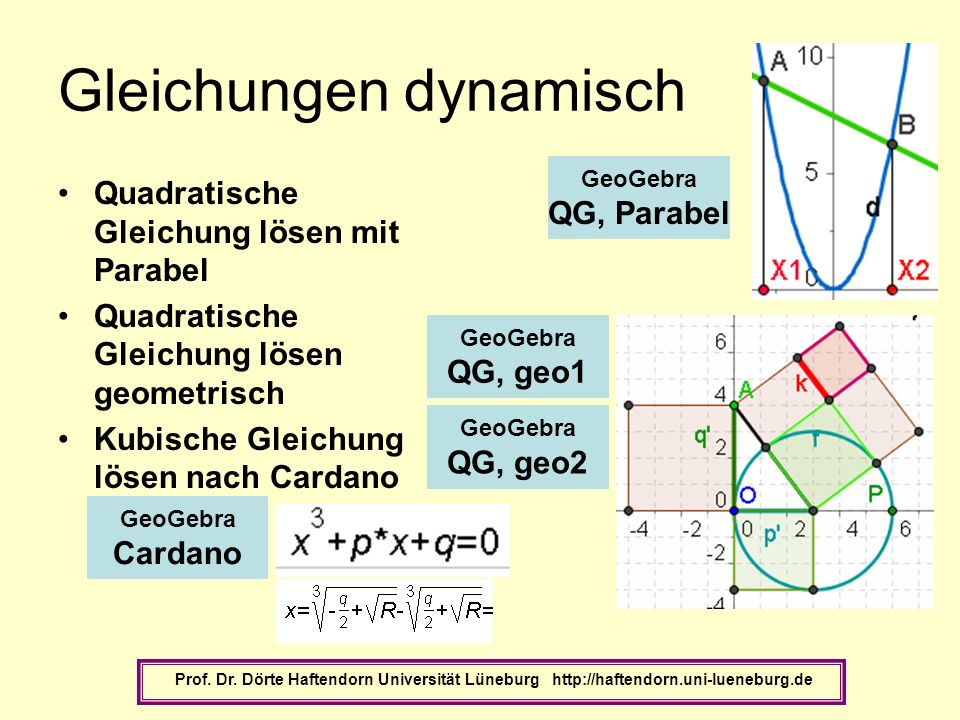 Gleichungen dynamisch