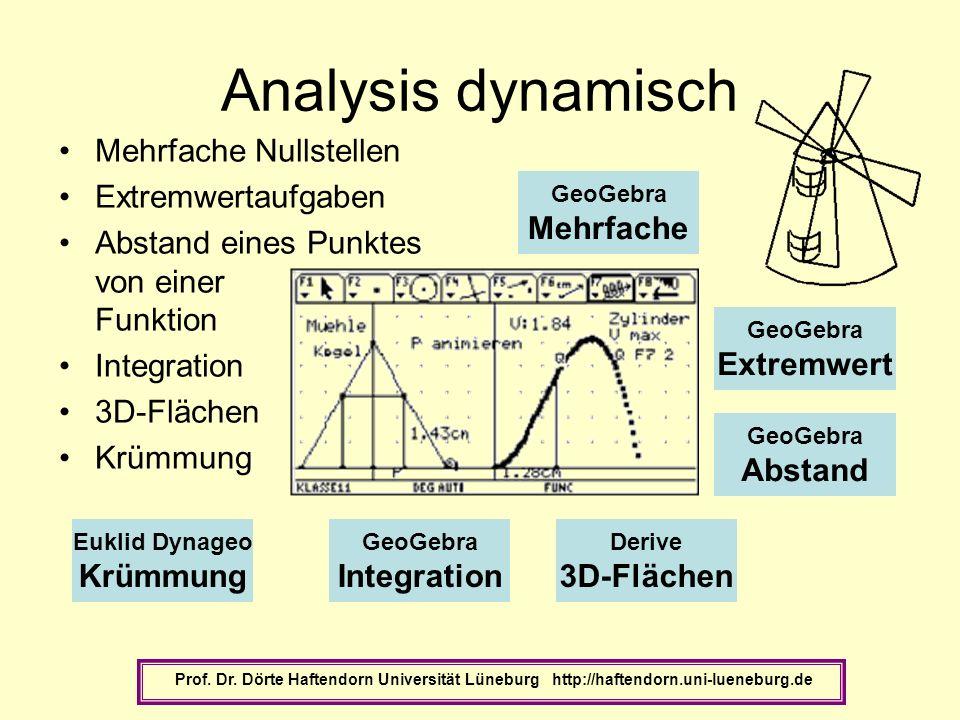 Analysis dynamisch Mehrfache Nullstellen Extremwertaufgaben