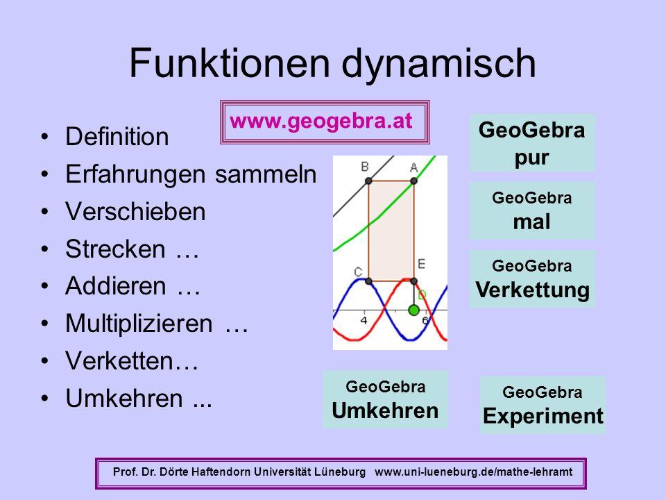 Funktionen dynamisch Definition Erfahrungen sammeln Verschieben