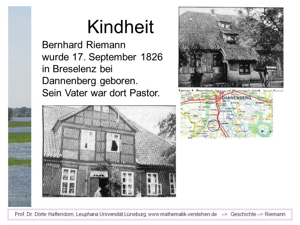 Kindheit Bernhard Riemann