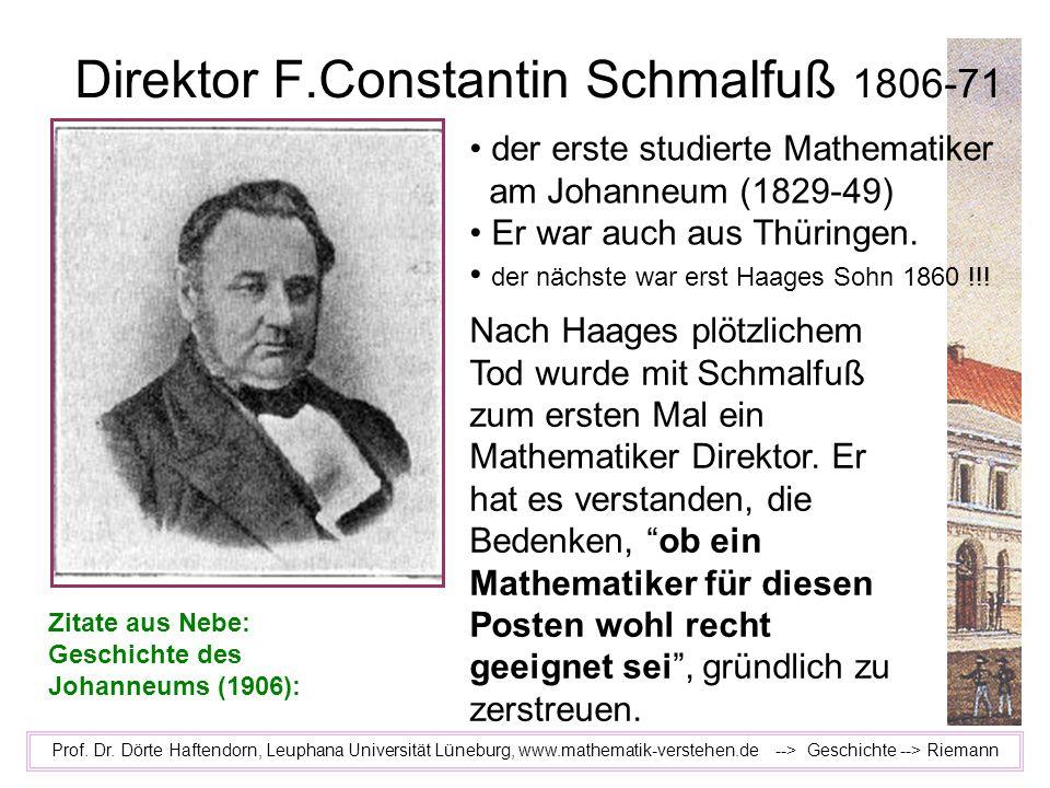 Direktor F.Constantin Schmalfuß 1806-71