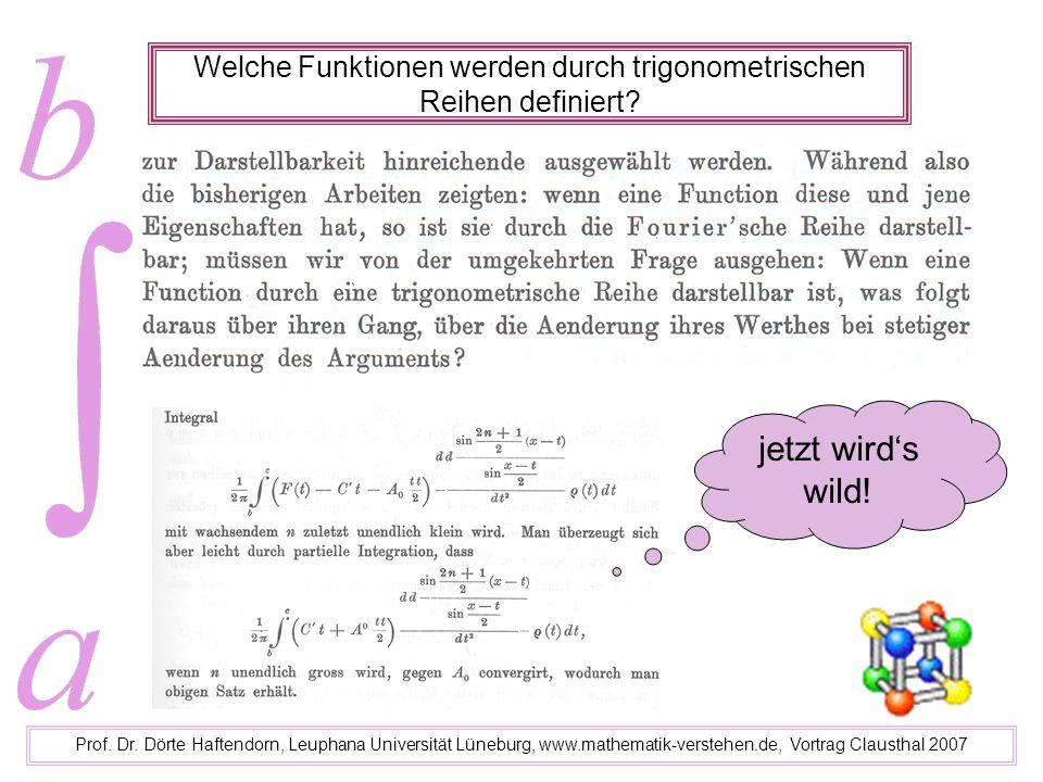 Welche Funktionen werden durch trigonometrischen Reihen definiert