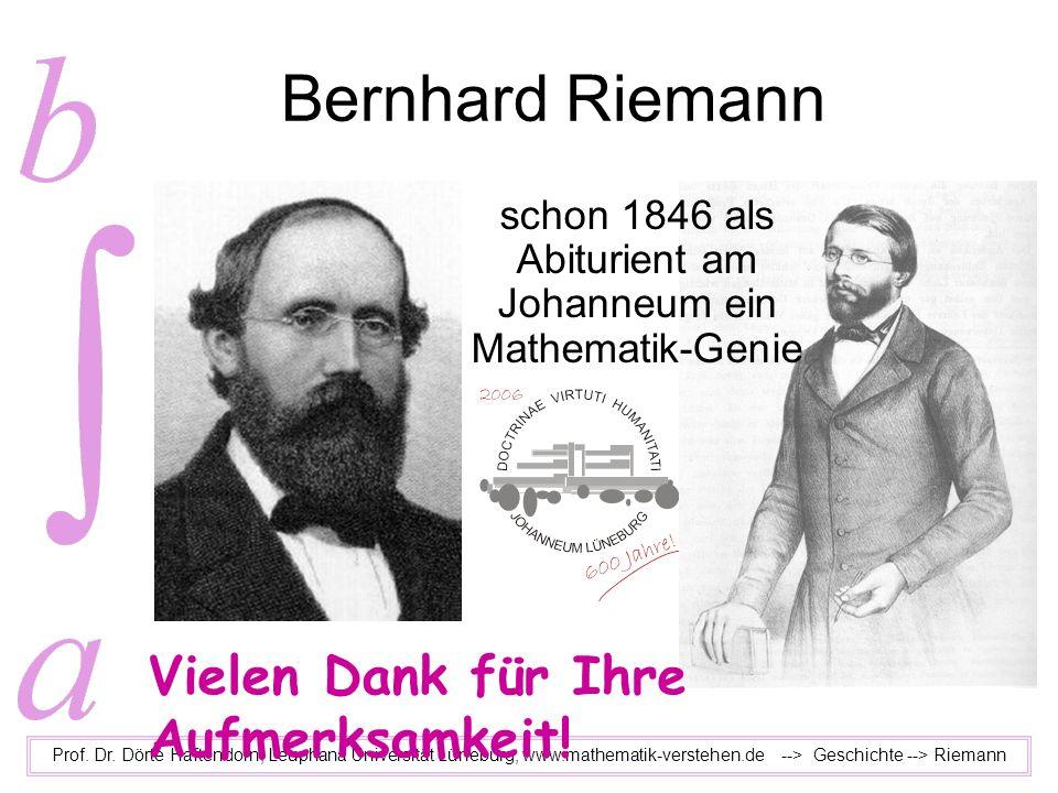 schon 1846 als Abiturient am Johanneum ein Mathematik-Genie