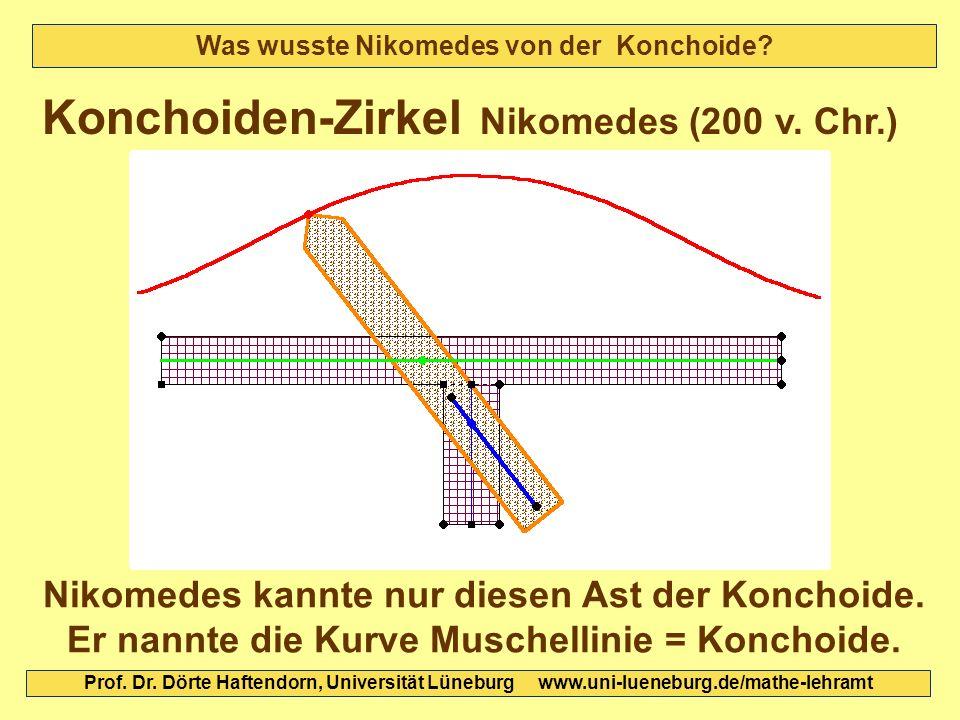 Was wusste Nikomedes von der Konchoide