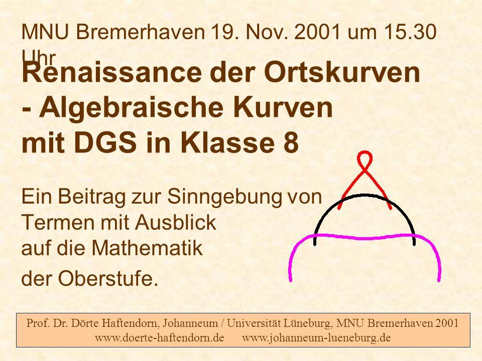 Renaissance der Ortskurven - Algebraische Kurven mit DGS in Klasse 8
