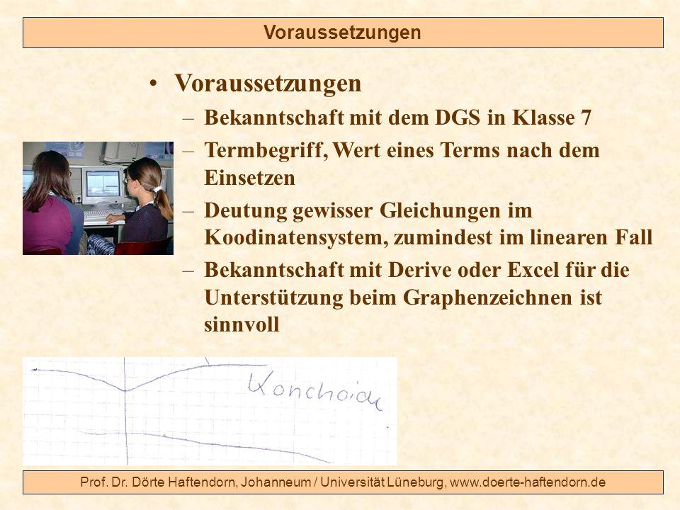 Voraussetzungen Bekanntschaft mit dem DGS in Klasse 7