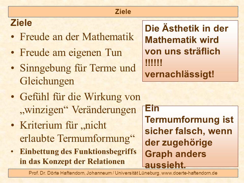 Freude an der Mathematik Freude am eigenen Tun