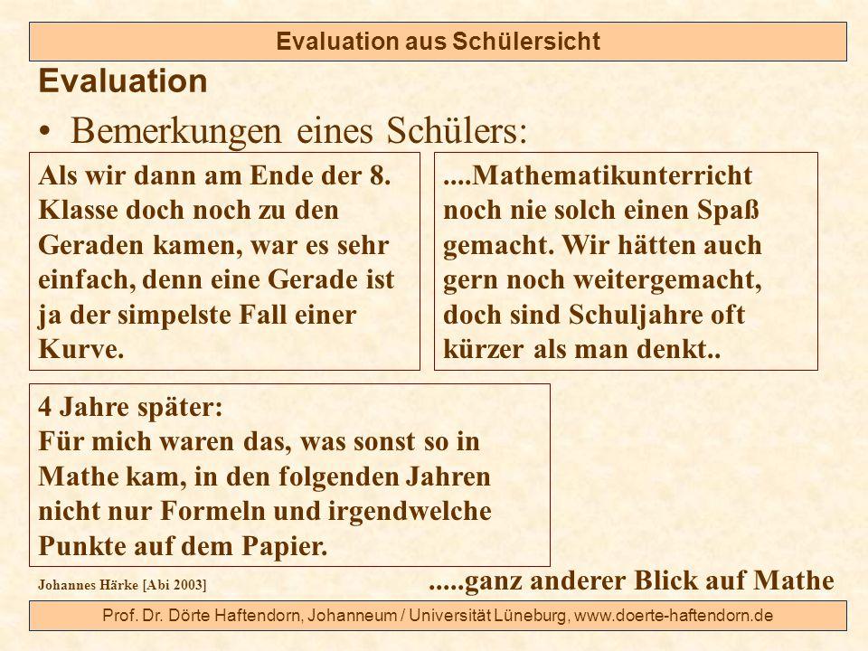 Evaluation aus Schülersicht