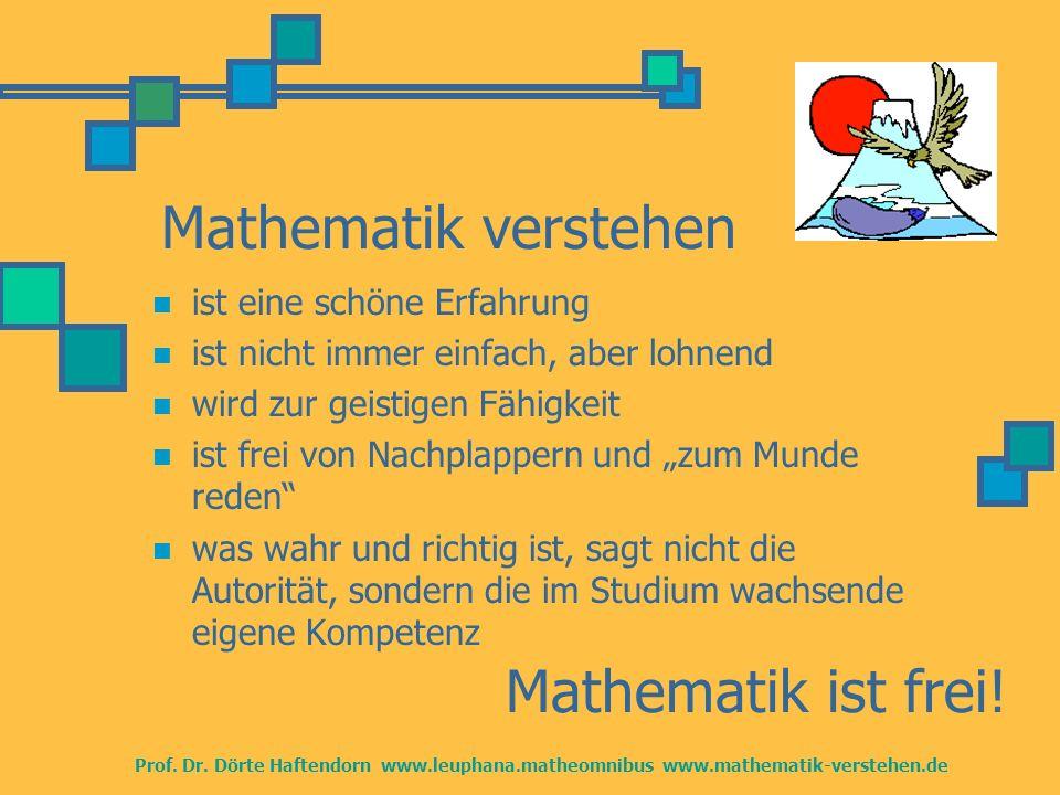 Mathematik verstehen Mathematik ist frei! ist eine schöne Erfahrung