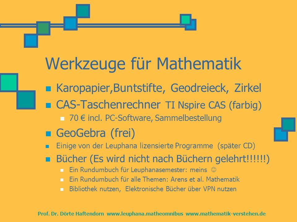 Werkzeuge für Mathematik