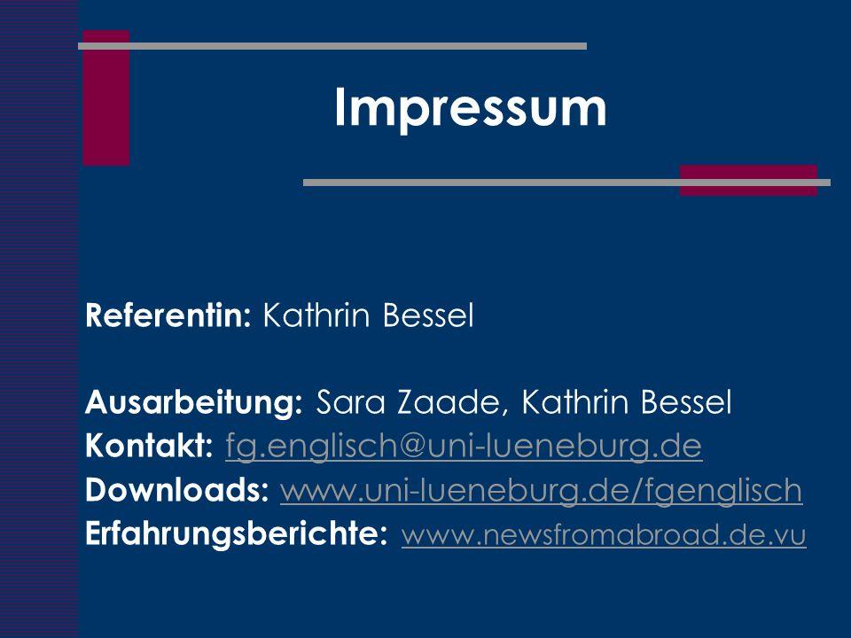 Impressum Referentin: Kathrin Bessel