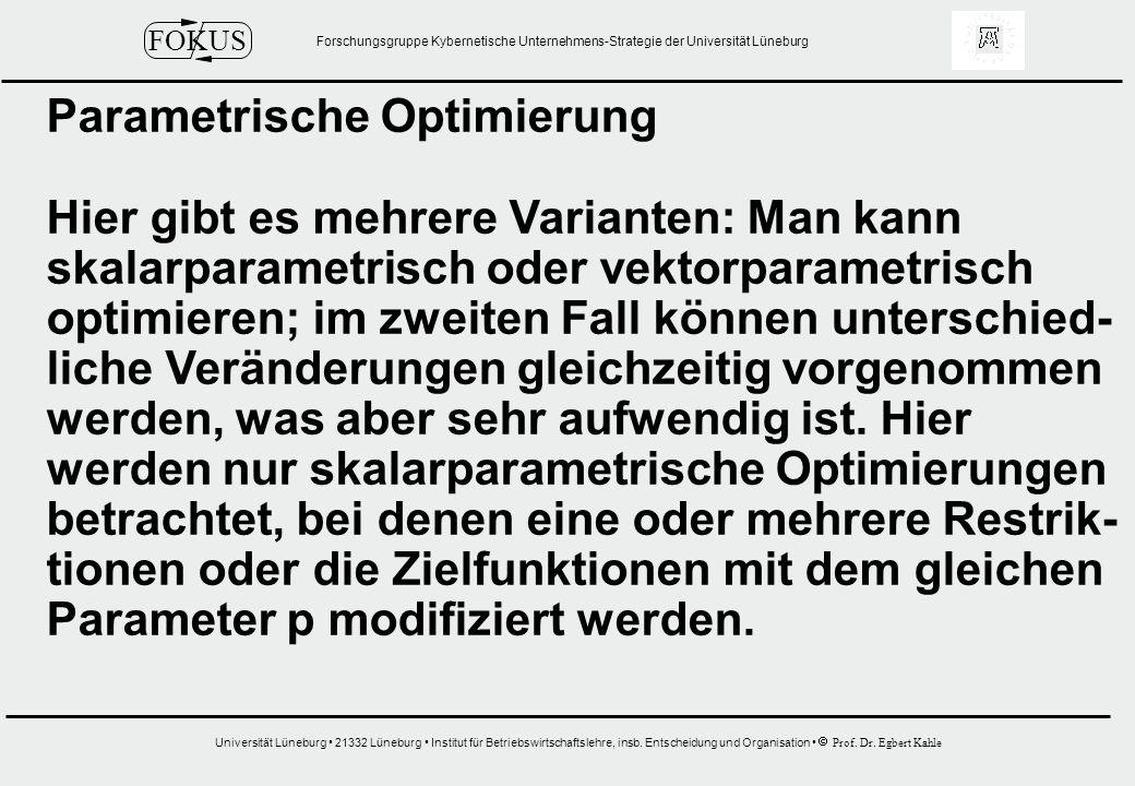 Parametrische Optimierung