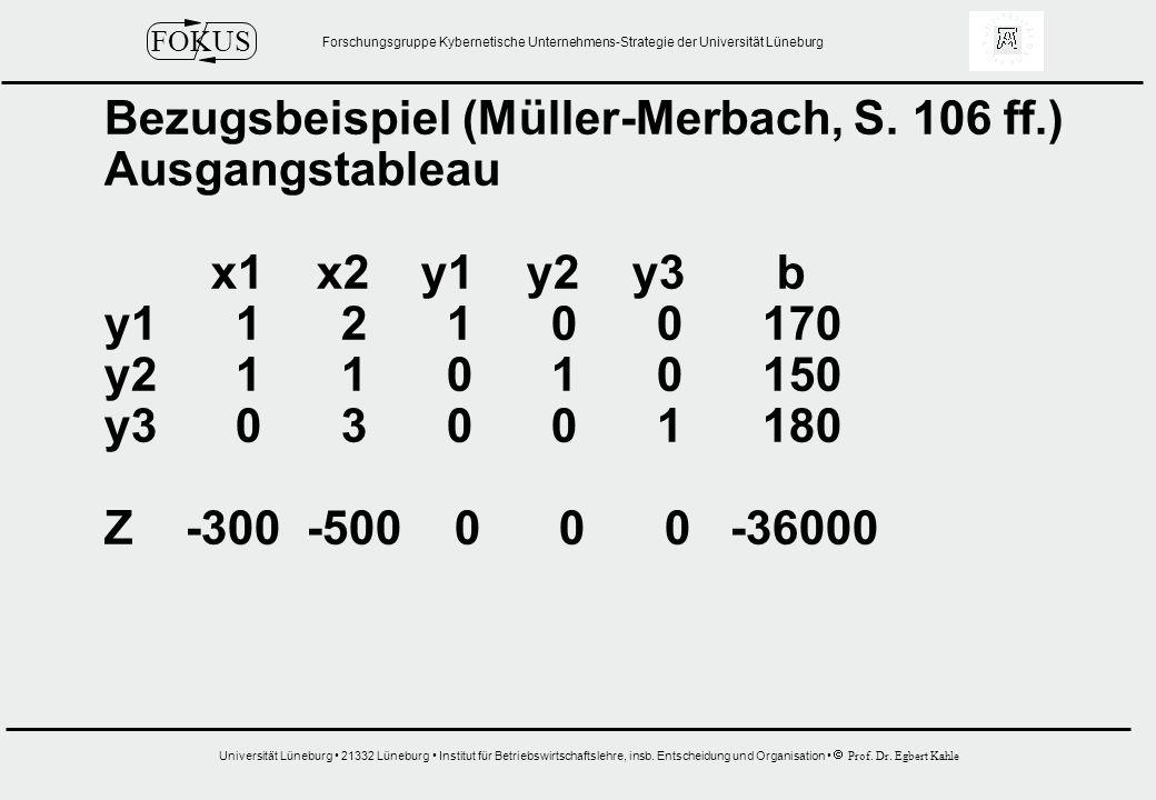 Bezugsbeispiel (Müller-Merbach, S. 106 ff.)