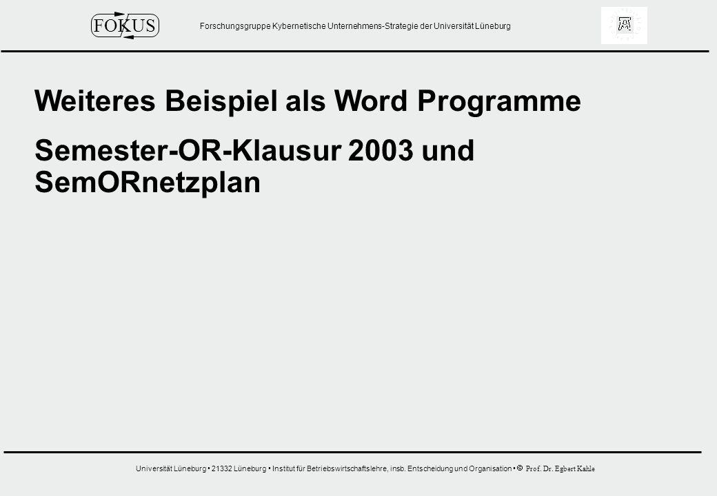 Weiteres Beispiel als Word Programme