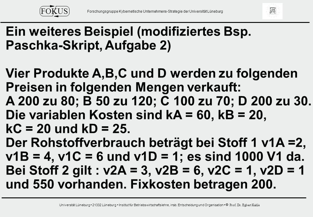 Ein weiteres Beispiel (modifiziertes Bsp.