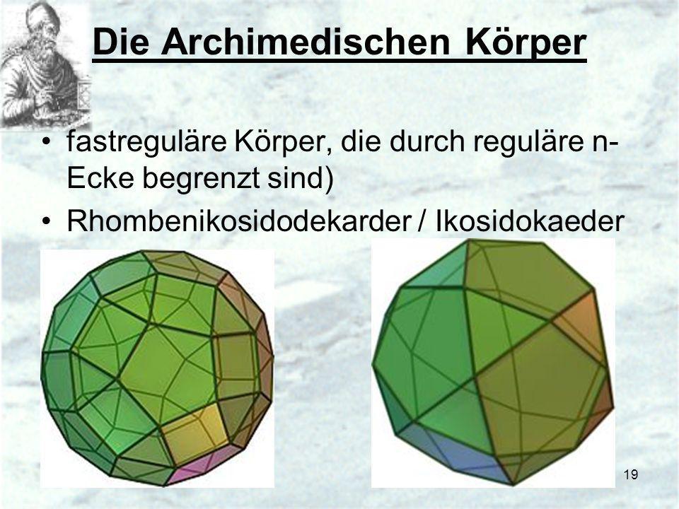 Die Archimedischen Körper