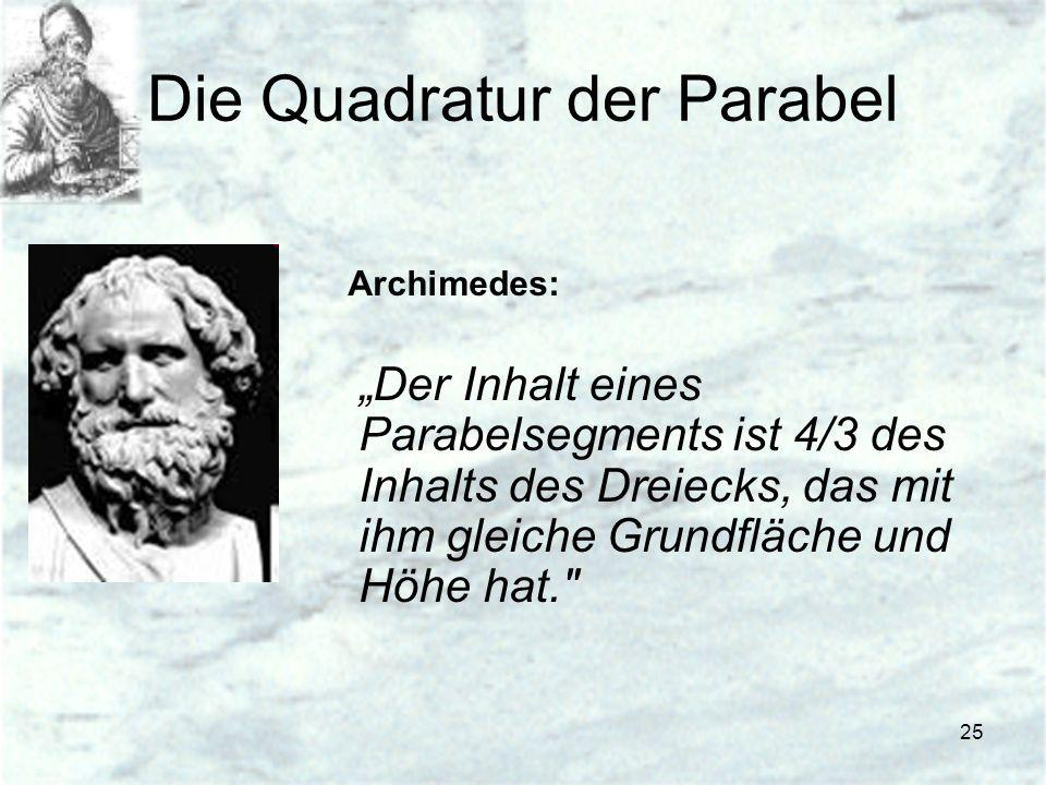 Die Quadratur der Parabel