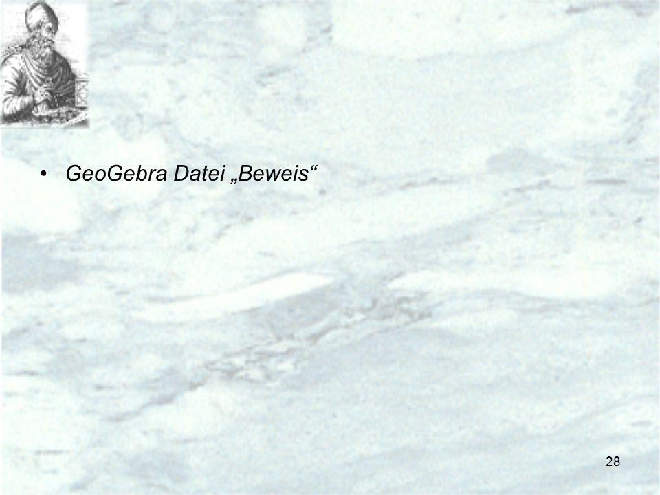 """GeoGebra Datei """"Beweis"""