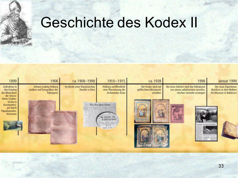 Geschichte des Kodex II